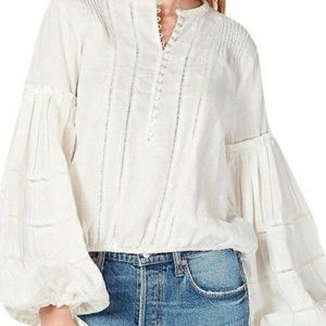 NWT FREE PEOPLE LINEN BALLOON SLEEVES